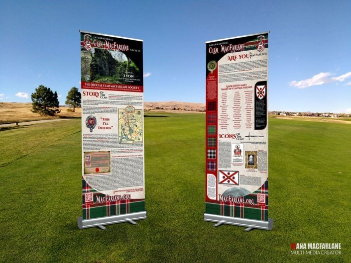 photo of Clan MacFarlane Promotional Retractable Banners