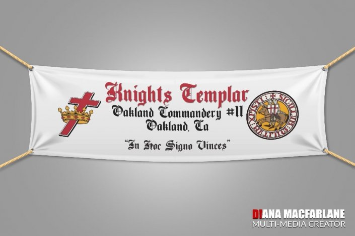 Knight Templar Crown and Cross • Art created for Knights Templar banners & signs. DianaMacFarlane.work
