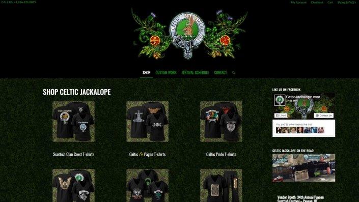 Festival Vendor E-Store created for CelticJackalope.com • Site design by Diana MacFarlane