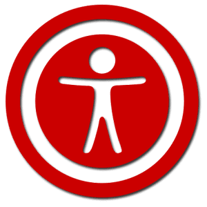 photo of accessibility logo