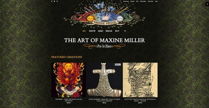photo of Maxine Miller Studios - Portfolio With Online Store - by Red Rubber Media