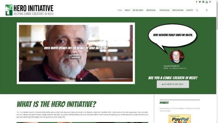 Website Redesign for Hero Initiative • Created by Diana MacFarlane /Red Rubber Media