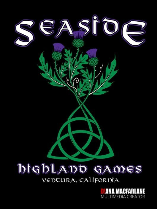 Seaside Highland Games Event Promotional Products Design for Royal Publishing